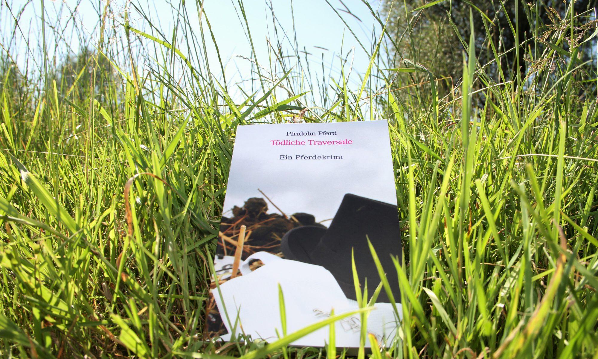 Das Buch Tödliche Traversale liegt im Gras.